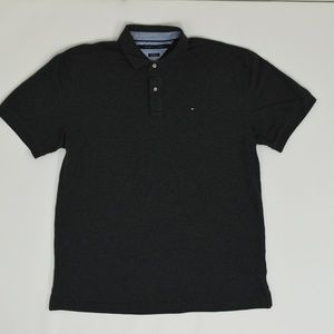 Tommy Hilfiger Big & Tall 2X Gray   Polo Cotton Bl